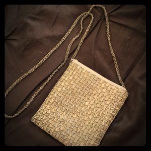 Handbags - White & silver formal evening purse